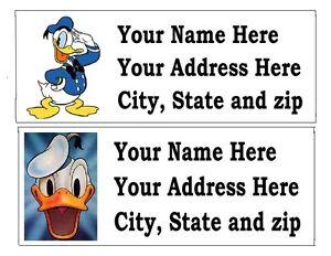 120 donald duck disney return address labels ebay