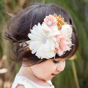 Simulation Flower Headband Elastic Hair Band For Baby Girls Hair Acc Adjustable