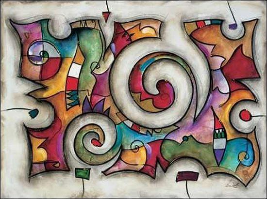 Eric Waugh  Quadra Keilrahmen-Bild Leinwand abstrakt modern bunt