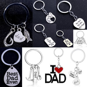 Family Charms Keyring Fathers Day Gifts For Dad Keychain Pendants ... 04882c757e64