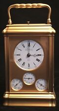 ANTIQUE CARRIAGE CLOCK - FRENCH CIRCA 1890 GRAND SONNERIE WITH ANNUAL CALENDAR
