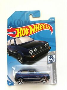 Hot-Wheels-2019-VOLKSWAGEN-GOLF-MK2-Blue-68-250-series-7-10-Mattel-Diecast-FYF76