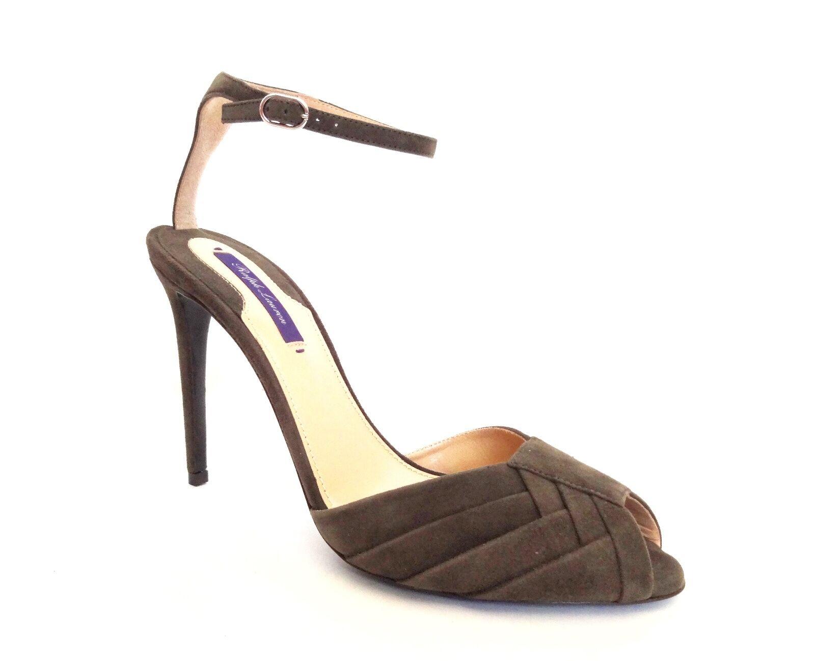 i nuovi marchi outlet online New Ralph Lauren Collection Blamina Olive Olive Olive verde Suede Sandals Heels scarpe 38.5 B  prendiamo i clienti come nostro dio
