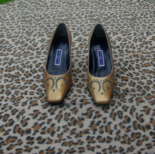 Vintage 4 Eu beige Leather Magrit 5 5 Uk Shoes Gold 37 Size rS0rwqO