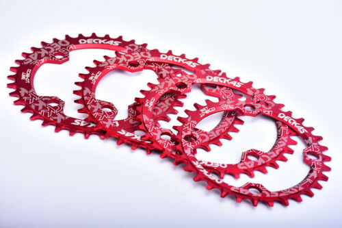 DECKAS XC Narrow Wide Oval Single Chainring Chain Ring BCD104mm 32 34 36 38T Red