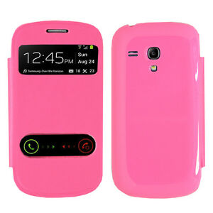 reputable site b5e4f ddef4 Details about Cover Case Plastic View Shell Pink Samsung Galaxy S3 Mini  i8190 i8200