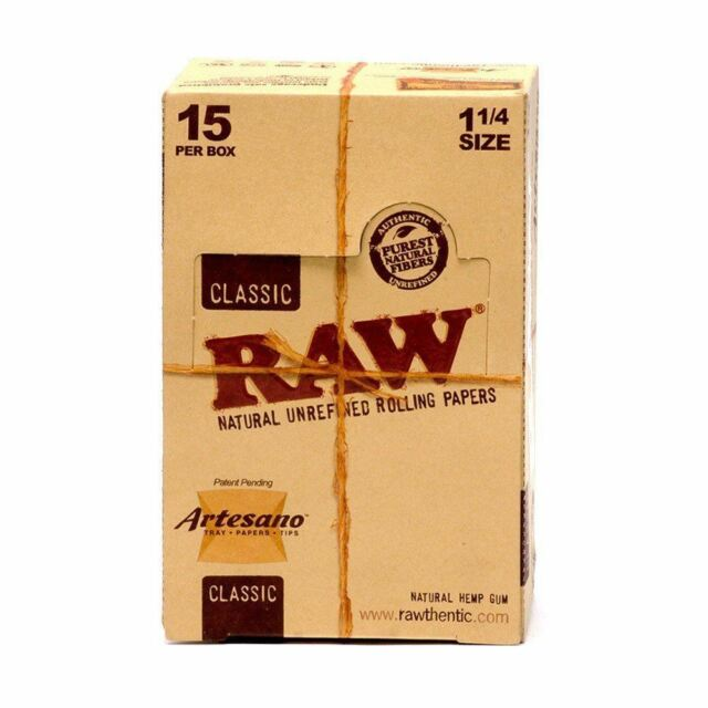 "5 Packs x RAW Artesano 1 1/4"" Rolling Papers with Tips & Rolling Tray"