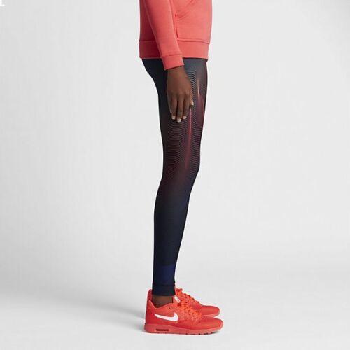 Tights 842447 Ember Black Small Size Uk Nike Printed 010 Glow Oq5Wfa
