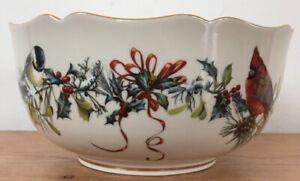 Vtg-1996-Lenox-Winter-Greetings-Catherine-McClung-Porcelain-Bowl-Fine-China-Vase