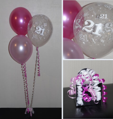 21st Birthday Balloons DIY Party Decoration Kit  Clusters For  5-15 Tables