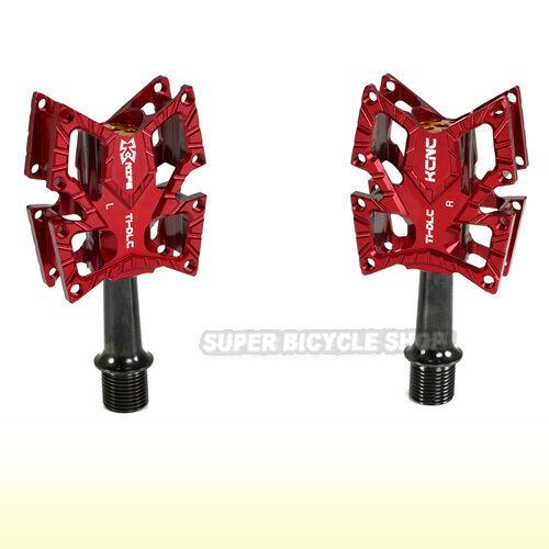 KCNC KNIFE CNC Pedals , Titanium Spindle , rosso