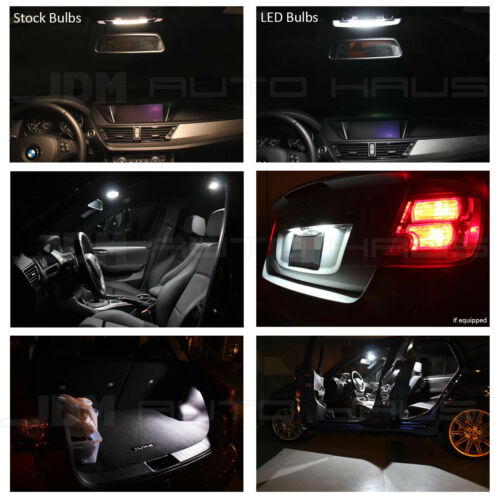 12x White Interior LED Lights Package Kit for 2013 /& up Acura ILX