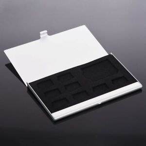 8 in 1 Aluminum Micro SD TF SDHC MS Memory Card Storage Case Protector Holder