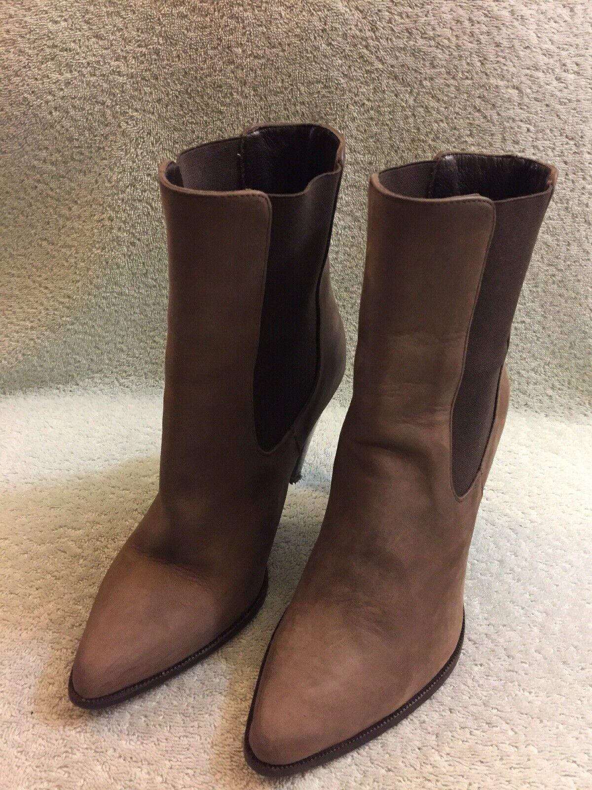 Jenni Kayne Chelsea Ankle Brown Boots Women's Sz 36 6