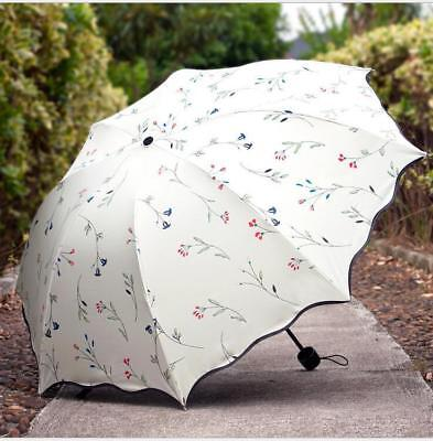 Women S Summer Fashion Parasol Anti Uv Rain Umbrellas Compact