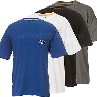 Shirts Caterpillar T shirt Mens CAT Short Sleeve Pocket  Logo Tee  T