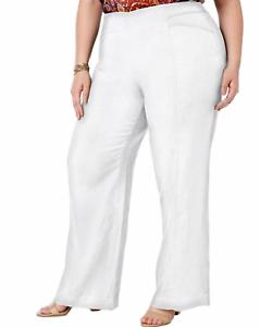 Details about INC White Linen Work Wear Office Wide Leg Pants Women\'s Plus  Size 24W NEW #2