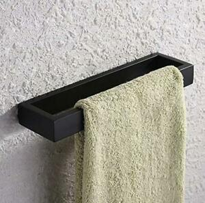 Matte Black Stainless Steel Bath Towel Holder Hand Towel Ring Contemporary Style Ebay