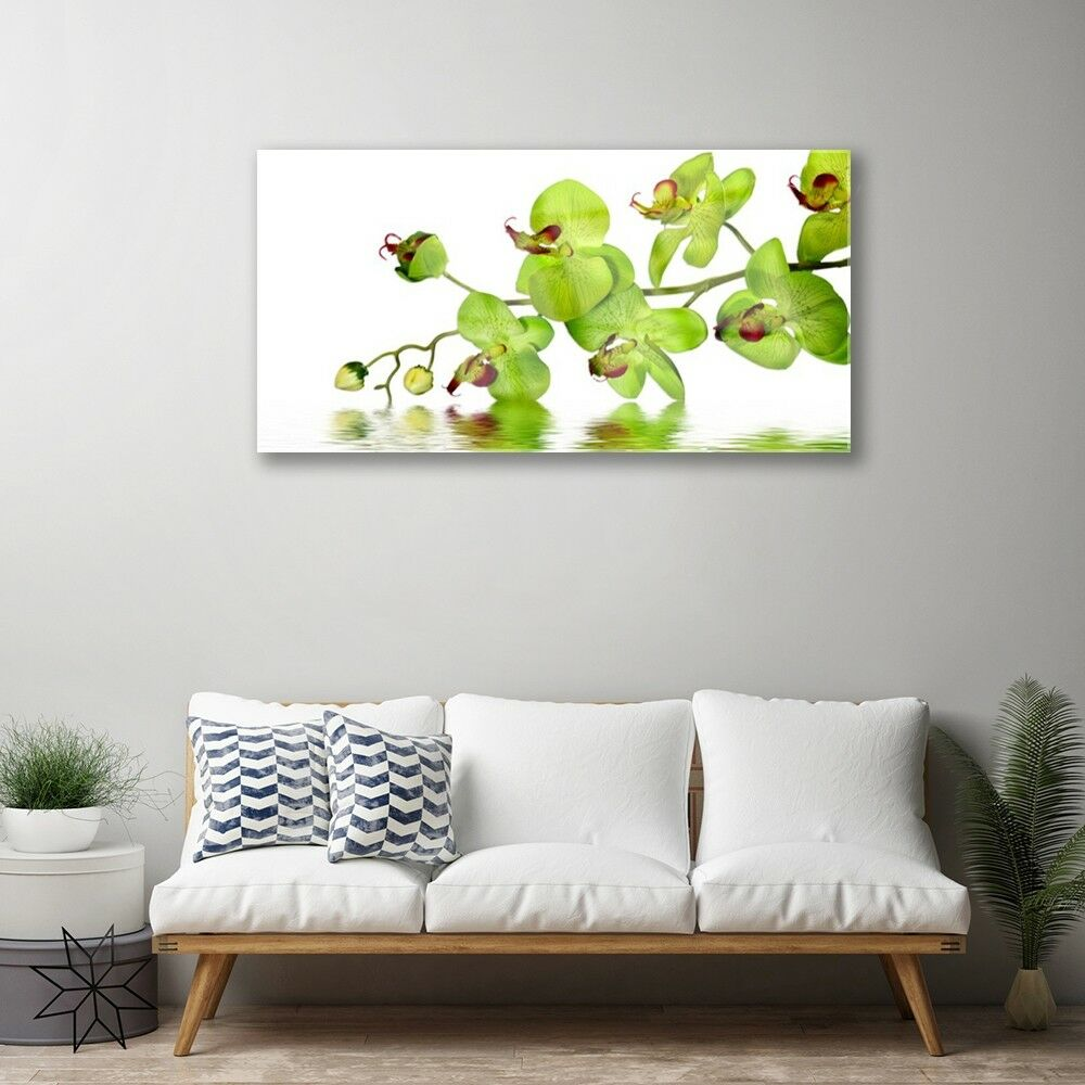 Print on Glass Wall art 100x50 100x50 100x50 Picture Image Flowers Floral d6218c