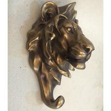 Lion Bronze Wall Coat Hook Sculpture Statue Art Contemporary Animal 39403