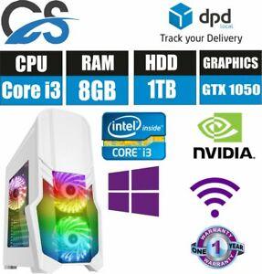 Gaming-Computer-Desktop-PC-Core-i3-3-10GHz-8GB-RAM-1TB-HDD-GTX1050-Win10