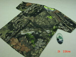S-L Mossy Oak Youth Black Green Camo Logo T-Shirts
