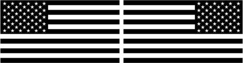 The United States of America Flag 2 badge cut-out premium vinyl decals
