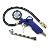 Dual Chuck Clip Digital Pressure Gauge Valves For Tire Inflator Dial Tools on sale