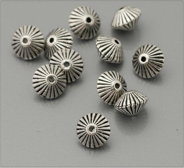 25x Tibetsilber Metall Perlen Spacer 5x7mm ms354