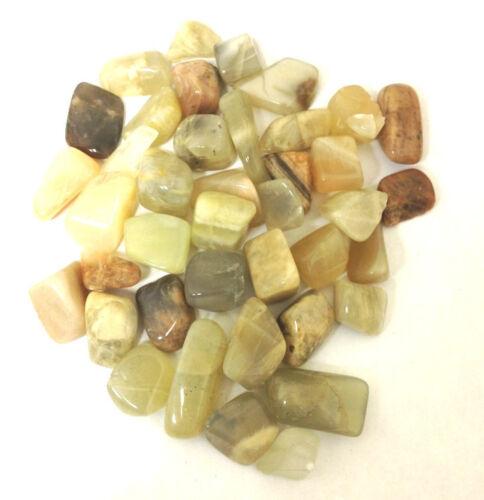 "1//2 Pound Bulk Tumbled Earth Tones Moonstone 3//4/"" Natural Crystals"