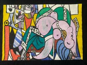Pablo Picasso Drawing on paper mixed media Signed
