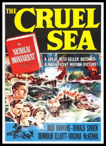 The Cruel Sea    British Movie Posters Classic Vintage /& Films