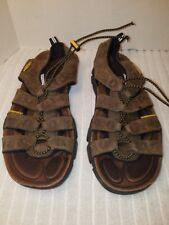 3afbfa984ccd KEEN Daytona Sandal Leather Mens Sports Sandals Black Olive 11 M for ...