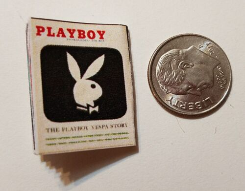 "Miniature Dollhouse book magazine 1/"" 1//12 scale Playboy Kim Kardashian  Black"