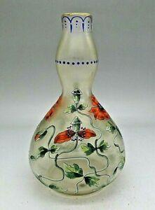 Fritz-Heckert-Iridescent-Art-Nouveau-Art-Glass-Vase-c-1900-Polished-Pontil-RARE