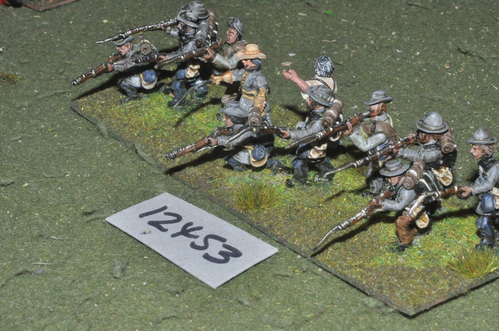 25mm ACW   confederate - american civil war infantry 12 figures - inf (12453)