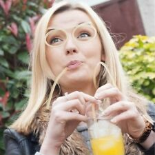 NOVELTY DRINKING STRAW GLASSES Flexible Kids Party Joke Flexi Silly Crazy Tube