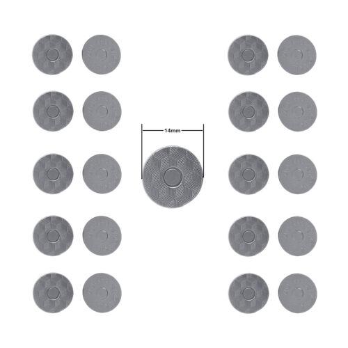 Redondo Broche De Imán Clasps 14mm//18mm para proyectos de bricolaje Leathercraft Carteras Bolsos