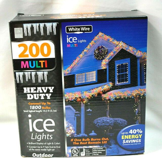 200  MULTI COLOR  Mini ICICLE  Light Set   NIB  for Weddings  Parties  Christmas