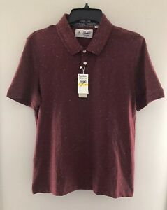 NWT-Penguin-Heritage-Slim-Fit-Pomegranate-Red-Polo-OPKF70610P