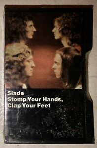 SEALED-NEW-SLADE-CASSETTE-TAPE-STOMP-YOUR-HANDS-CLAP-YOUR-FEET-1974-BLACK-CASE