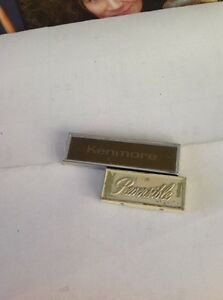 Details about refrigerator emblems kenmore reversable 1960's   plastic