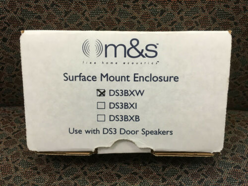 White M /& S Systems DS3BXW Surface-Mount Enclosure for DS3 Door Speaker NEW