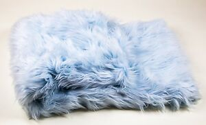 Details About Throws Blanket Bed Spread Coverlet Soft Baby Blue Faux Fur 108 X 60
