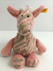 Steiff Giselle Bell Giraffe Stuffed Animal Plush Toy #240393 Pink Rattles