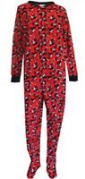 Mickey Mouse Womens Pajamas Onesie Size M,l,xl - Plus 1x,2x Disney Zip Up Footed