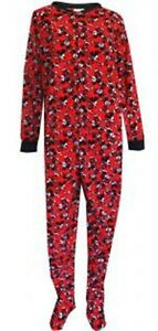 Mickey Mouse Womens Pajamas M- 1X Disney Zip Up Footed Blanket ...