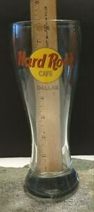 HARD-ROCK-CAFE-DALLAS-BEER-GLASS-16oz-and-Hurrican-glass-Sip-w-a-Taste-of-Texas