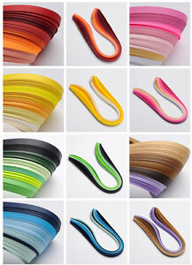 6 Farben Quilling Papierstreifen Breit 3mm 5mm 10mm Ca 20strips