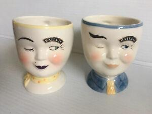 Vintage Baileys Irish Cream Yum Winking Face BOY GIRL Mugs Limited Edition 1997